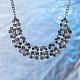 Mujeres de la moda de joya de zinc collares del collar de rhinestone de cristal de aleación babero declaración gargantillaNJEW-BB15143-D-9
