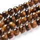 Gemstone Beads, Natural Tiger Eye, Grade AAA, Round, 8mm, Hole: 1mm; about 48pcs/strand