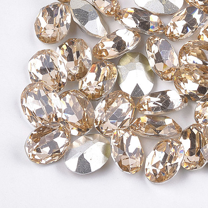 Pointed Back Resin Rhinestone Cabochons CRES-S379-8x10mm-B15-1