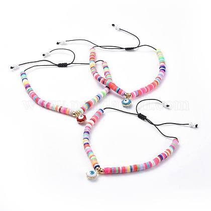 Adjustable Nylon Thread Braided Beads BraceletsBJEW-JB04455-M-1
