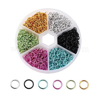 Цветы 6 алюминиевая проволока открыты кольца прыжокALUM-JP0001-01B-1