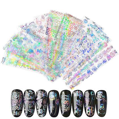 Pegatinas de brillo de uñas láser brillanteMRMJ-T009-019D-1