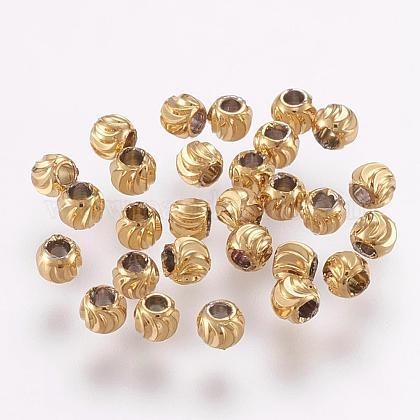 Abalorios de latónKK-G312-01G-3mm-G-1