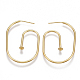 Brass Stud Earring FindingsKK-T038-216G-1