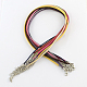 2mm Faux Suede Cord Necklace Making with Iron Chains & Lobster Claw ClaspsNCOR-R029-M-2